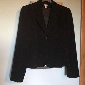 Apt 9 Black 2 button blazer with peplum
